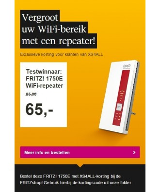FRITZ!WLAN Repeater 1750E WiFi repeater